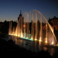 Spectacle aquatique à Moscou en 2007