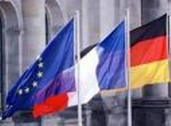 Drapeaux francais et allemand