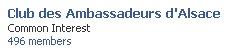 Rejoingnez le groupe du Club des Ambassadeurs d'Alsace sur Facebook !