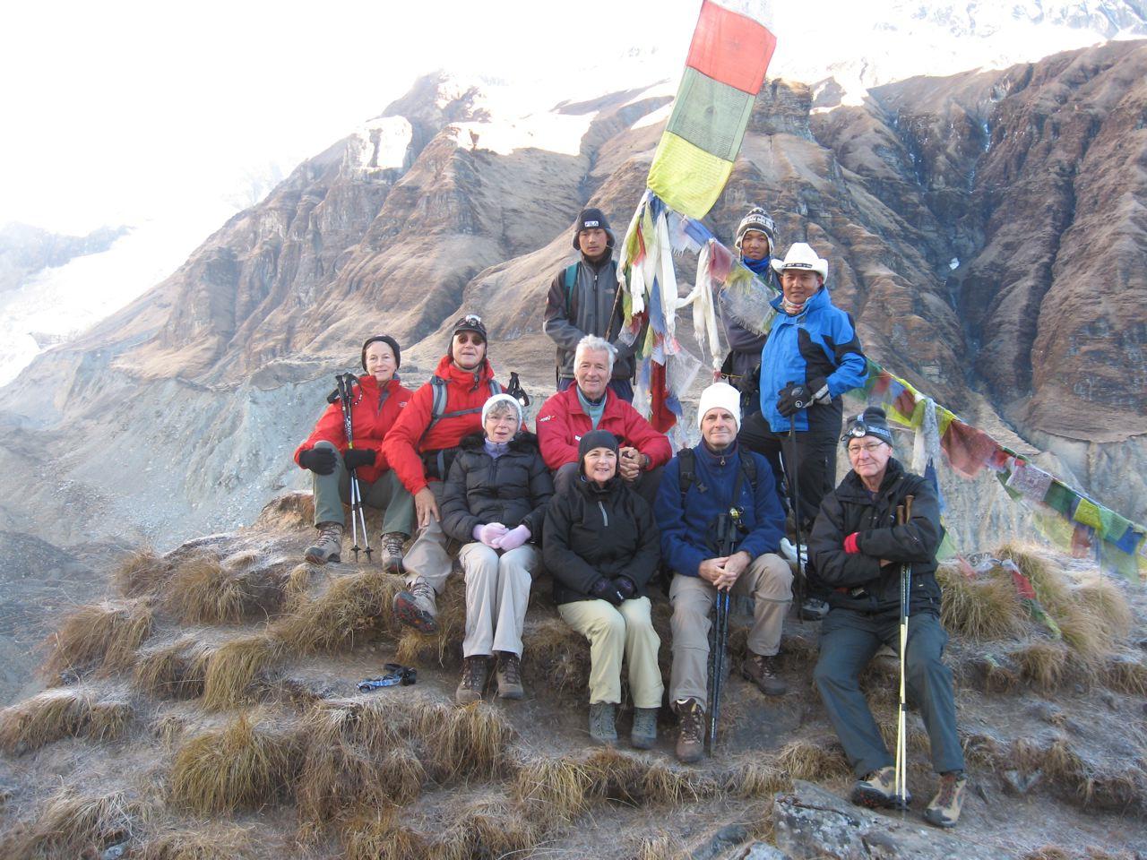 Jean Weissenbach au sommet d'un col de l'Himalaya