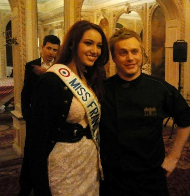 Delphine Wespiser - Miss France 2012 - et Christohe Bauer