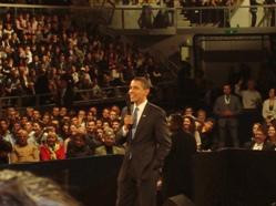 Le Président B. Obama au Rhenus