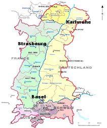 Carte du Rhin supérieur